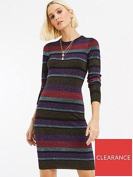 oasis-simone-stripe-lurex-knitted-dress-multinbsp