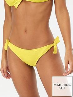 accessorize-dani-knot-side-bikini-briefs-yellow