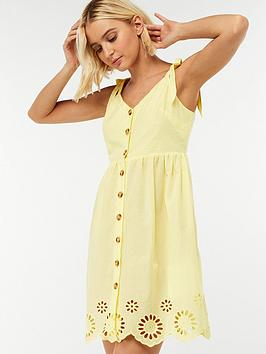 accessorize-sarah-strappy-button-dress-yellow