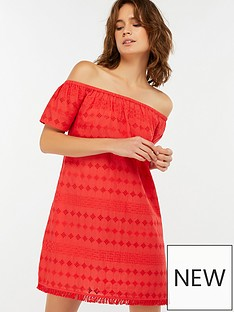 accessorize-off-shoulder-schiffli-dress-red