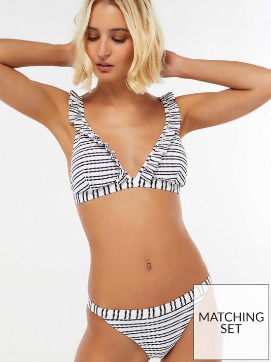 74e529aac4e Accessorize Nautical Ruffle Triangle Bikini Top - Navy   very.co.uk