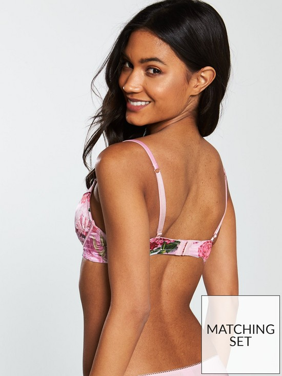 176f47ebbd335 ... B By Ted Baker Palace Gardens Plunge Bra - Light Pink. View larger