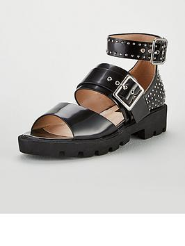 lost-ink-sabby-cleated-chunky-studded-ankle-sandals-black