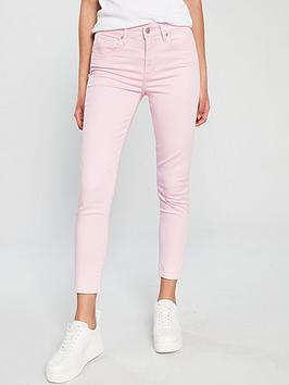 Levis 721 Hi Rise Skinny Ankle  Light Pink