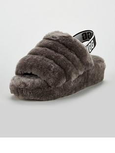 04d541cf5586 UGG Fluffy Yeah Slide Slipper - Charcoal