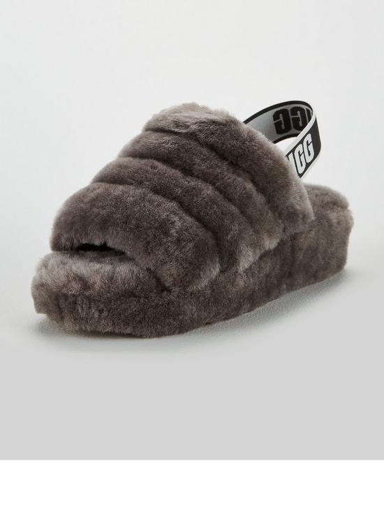 8b3602e70d06 UGG Fluffy Yeah Slide Slipper - Charcoal
