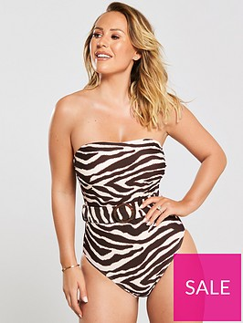 kate-wright-bandeau-belted-swimsuit-zebra-print