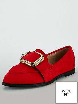 lost-ink-orlanbspwide-fit-loafer-with-buckle-red