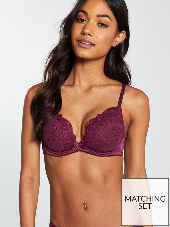 684be8c30f ... B By Ted Baker Crystal Embellished Plunge Bra - Purple. View larger
