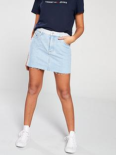 tommy-jeans-distressed-denim-skirt-blue
