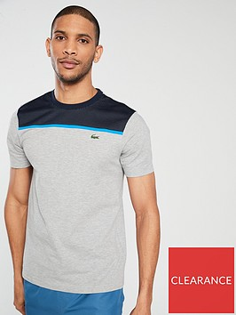 lacoste-mesh-panel-t-shirt-grey