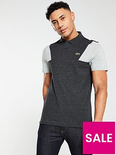 8a22d1368840 Lacoste Chest Panel Polo Shirt - Grey