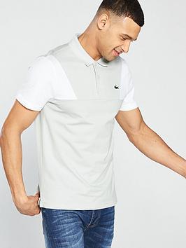 lacoste-contrastnbspsleeve-polo-shirt-grey