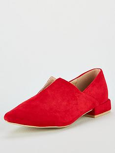 575e28d7c29 Lost Ink Britney High Vamp Flat Shoe - Red
