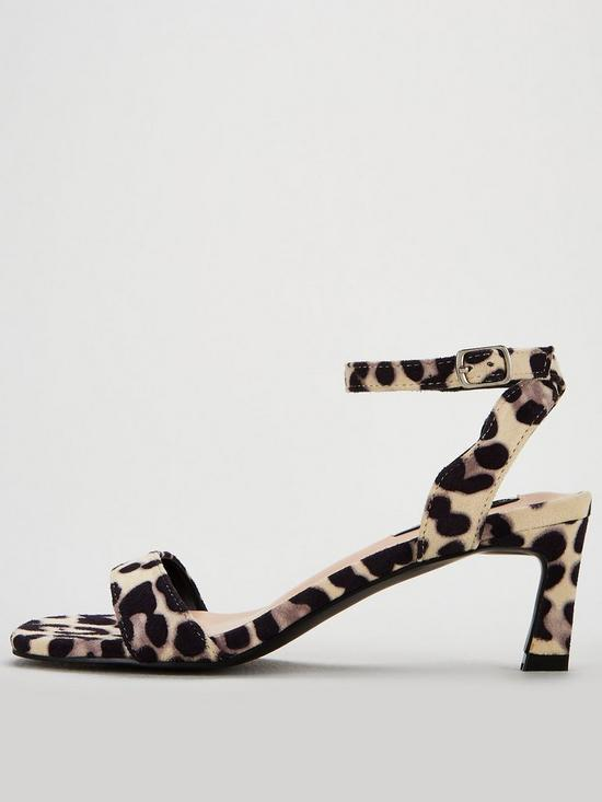 bc8b140e5393 ... Lost Ink Wide Fit Tara Kitten Heel Barely There Sandals - Leopard Print.  3 people have looked at this in the last couple of hrs.