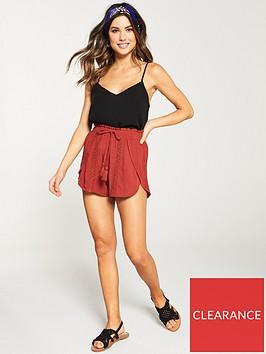 v-by-very-lace-insert-beach-shorts-terracotta