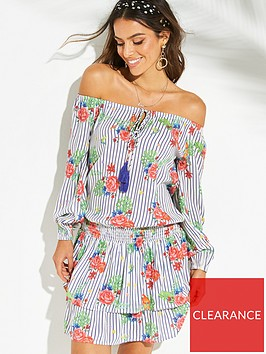 v-by-very-off-the-shoulder-tiered-beach-dress-print