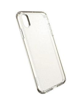 Speck Presidio Clear And Glitter Case For Iphone Xs Max - Clear