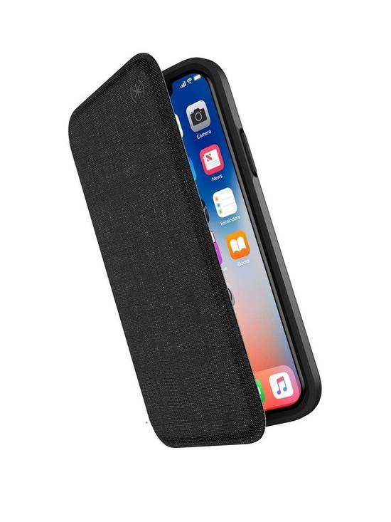 buy online 4570a 2c0ce Presidio Folio Leather Case for iPhone X/XS - Black