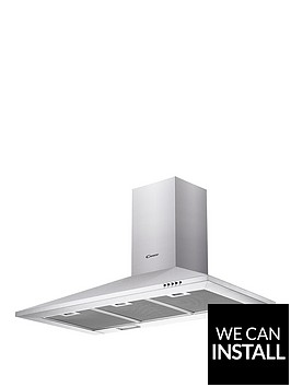 candy-cce1191x-90cm-chimney-hood-with-optional-installation-stainless-steel