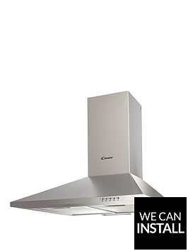 candy-cce1161x-60cm-wide-chimney-hood-stainless-steel