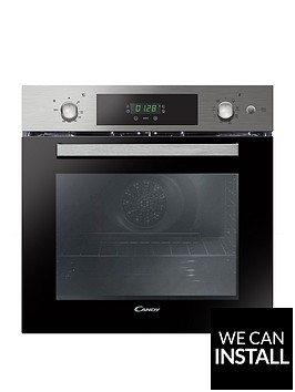 candy-fcp651sx-60cmnbspwide-built-in-electric-single-oven-with-optional-installation-stainless-steel