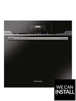 hoover-hozp717in-60cmnbspbuilt-in-electric-single-oven-with-optional-installation-black-glass