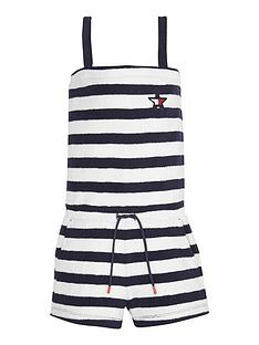 a391141f Tommy Hilfiger Girls Towelling Stripe Playsuit
