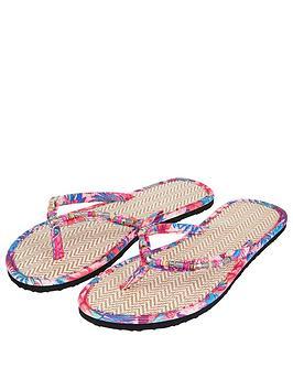 accessorize-nbspmozambique-print-seagrassnbspflip-flops-pink