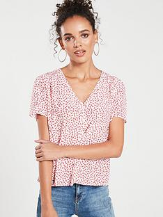 calvin-klein-jeans-daisy-floral-shirt-racing-red
