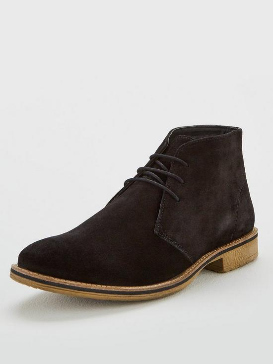 557b2285054ef V by Very Black Suede Chukka Boot | very.co.uk