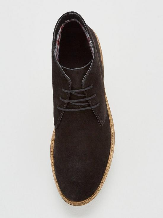 e8c3e572647d4 ... V by Very Black Suede Chukka Boot. View larger