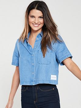 calvin-klein-jeans-cropped-denim-shirt-light-indigo
