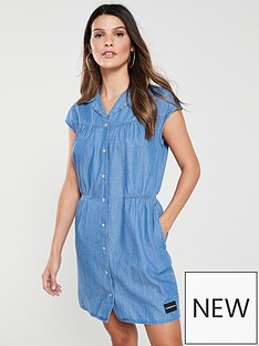 calvin-klein-jeans-cap-sleeve-western-dress-denim