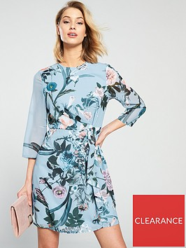 little-mistress-floral-printed-long-sleeve-mini-dress-blue