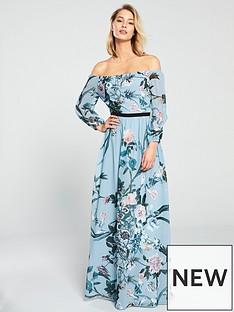 a0d26d0c2f2 Little Mistress Little Mistress Bardot Floral Printed Maxi Dress