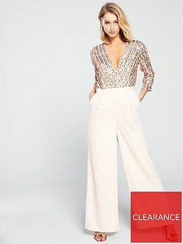 little-mistress-wrap-front-sequin-jumpsuit-nude