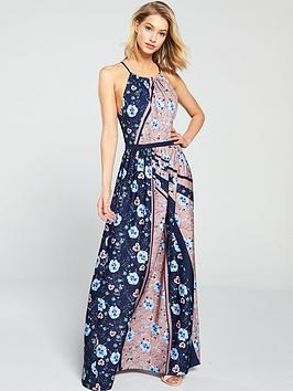 little-mistress-high-neck-floral-printed-maxi-dress-multi