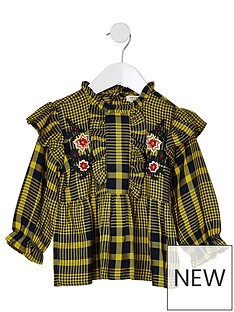 river-island-mini-girls-yellow-check-peplum-hem-top