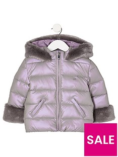 river-island-mini-mini-girls-purple-faux-fur-trim-padded-coat