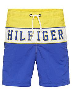a23f5bd08 Tommy Hilfiger Boys Colourblock Logo Swim Shorts - Yellow