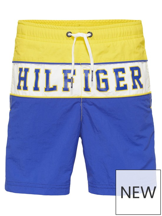 a3cd0fcae Tommy Hilfiger Boys Colourblock Logo Swim Shorts - Yellow