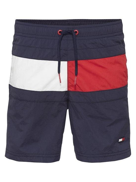 0c19ce7fb1 Tommy Hilfiger Boys Flag Swim Shorts - Navy | very.co.uk