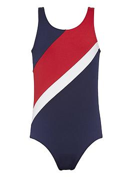 tommy-hilfiger-girls-flag-print-swimsuit-navy