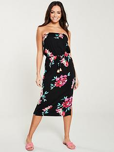 310a6c7f7a936 V by Very Tube Midi Dress - Floral Print