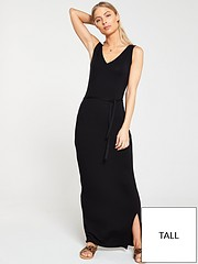 9f3001f3374bea V by Very Tall Wrap Split Jersey Maxi Dress - Black