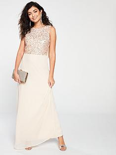 little-mistress-little-mistress-bridesmaid-high-neck-embellished-top-cowl-back-maxi-dress