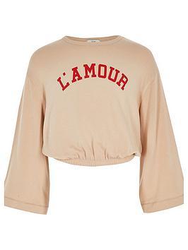 river-island-girls-cream-lamour-long-sleeve-top