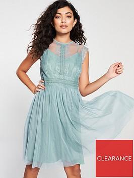 little-mistress-mesh-skater-dress-blue
