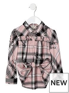 river-island-ls-pink-check-lamour-print-ruffle-shirt